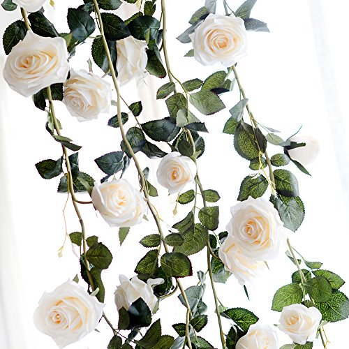 Cream Rose Floral Heart Shaped Vintage Style Wreath Garland Relieving Rheumatism And Cold Home Décor Other Home Décor