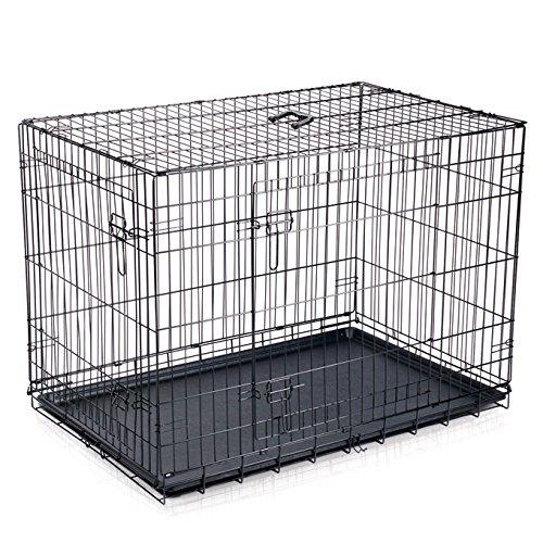 mpets Käfig faltbar 2Türen für Hunde, Größe S