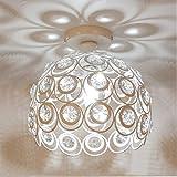 Plafonnier Moderne Industriel Luminaire en Métal, Suspensions Lustres Abat-Jour Blanc Lampe de plafond E27 éclairage Décorati