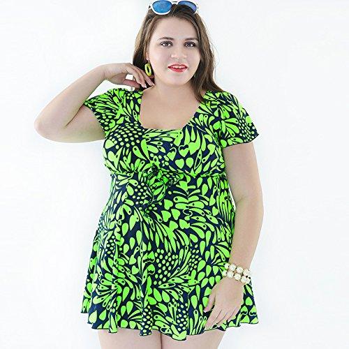 SHISHANG Großer Bikini Badeanzug Damen Badeanzug hohe Taille Europäische und amerikanische schnell trocknende hochelastische Mehrfarbenwahl Green
