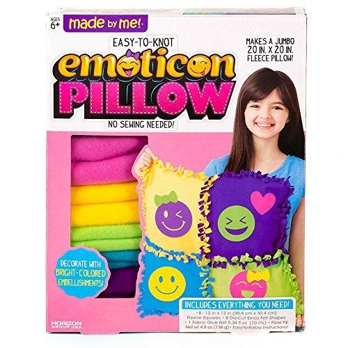 Made By Me Jumbo Emoticon Pillow 20 x 20 Fleece Jumbo pillow by Horizon Group USA