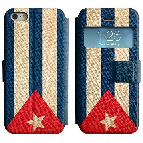 Graphic4You Vintage Uralt Flagge Von Mexiko Mexikanisch Design Leder Schützende Display-Klappe Brieftasche Hülle Case Tasche Schutzhülle für Apple iPhone 5 und 5S Kuba Kubanisch