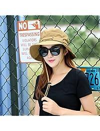 YXINY Viseras De las Mujeres de los Hombres Proteccion Solar Al Aire Libre  Sombrero para el Sol Verano Temporada Visera Pescador Sombrero… c34f52a3639