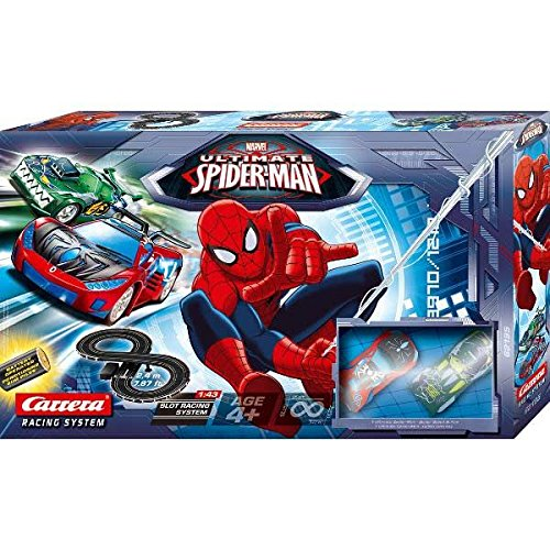 Circuit voiture Ultimate SPIDER-MAN vs GREEN GOBLIN Carrera Racing NEW 2.4m 95cm/47cm