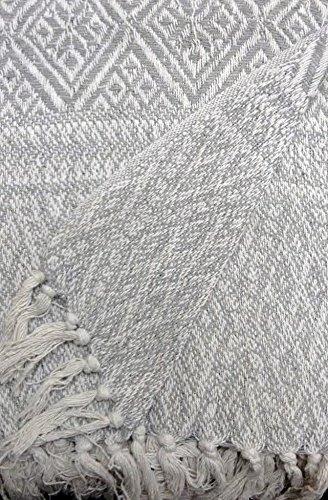 Dorte Haus.- Decke 100% baumwolle Maßnahme 125 x 150 cm grau