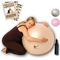 NBF Natural Birth & Fitness Birthing Ball & Pump Anti-Burst Birth Ball with Instruction Guide for Pregnancy & Labour…