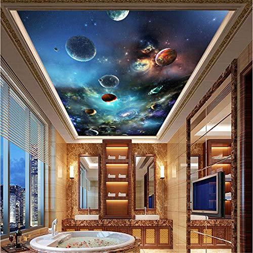 de Moderne 3D Universum Planet Fototapete Wohnzimmer Thema Hotel Decke Dekor Wandverkleidung Papel De Parede 3 D-400Cmx280Cm ()