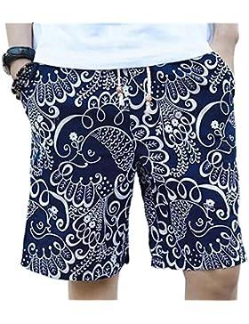 Fuyingda Hombres Deporte Pantalón Shorts de playa Surf Cortos Ajustable Casual & Bolsillos Pantalonetas