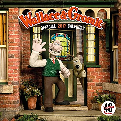 Wallace and Gromit Official 2017 Square Wall Calendar - Aardman 40th Anniversary Edition