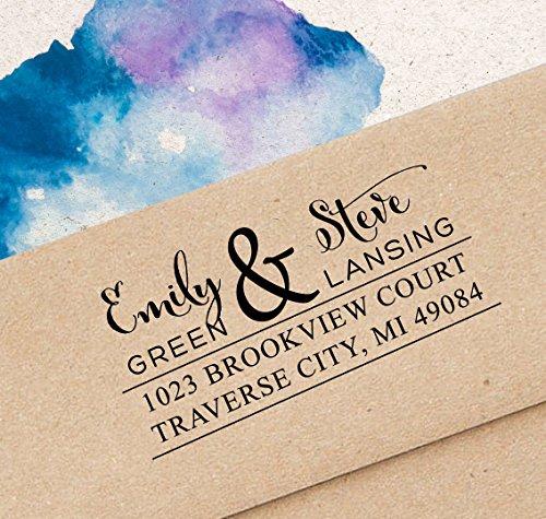 Printtoo Personalisierte Stempel Kundenspezifische Hochzeit Selbstfärber Adresse Stempel-Geschenk-Idee