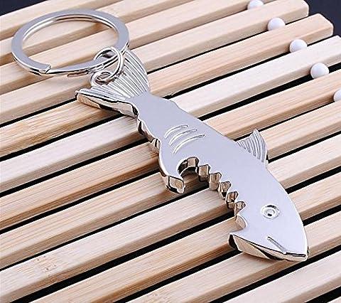 Happy Star® Silber Shark Bier Flaschenöffner mit Schlüsselanhänger