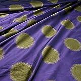 Stoff Trevira CS Taft lila Kreis überbreit 333 cm breit