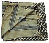 BUNDESWEHR PLO-Shemagh Halstuch Baumwolle 112x112 in verschiednen Farben (Schwarz-Oliv)