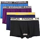 EYUSHIJIA Men's 4 Pack Comfortable Bamboo Fiber Modal Boxer Briefs