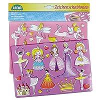SIMM Spielwaren Lena 657662Drawing Templates Fairies and Princesses, approx. 26x 19cm