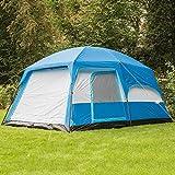 skandika Tønsberg 5 Personen Campingzelt mit großem Wohnraum, eingenähtem Zeltboden, abnehmbarem Überzelt und 4.000 mm Wassersäule (blau) -