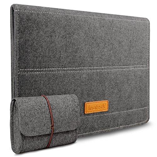 Inateck 13 Zoll MacBook Pro 2016-2017/ 12,9 Zoll iPad Pro 13,3 Zoll MacBook Air/Pro Retina Case Gehäuse Hülle Ultrabook Netbook Laptop Tablet PC Sleeve mit Stand-Dunkelgrau (13 Ins Laptop-tasche)