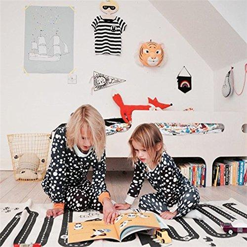 kuuboo Kids Play Mat Bebé gatear alfombra antideslizante (se puede la
