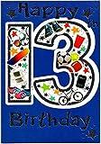 Geburtstagskarte Dreizehn (13) Jahre alten Jungen–Kostenloser 1st Class Post (UK)