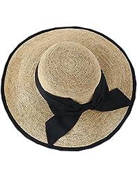 LHA Cappello di Paglia Donna Protezione Solare Cappello Estivo Cover Viso  UV Pieghevole Donna Liang MAO 3949a0434802