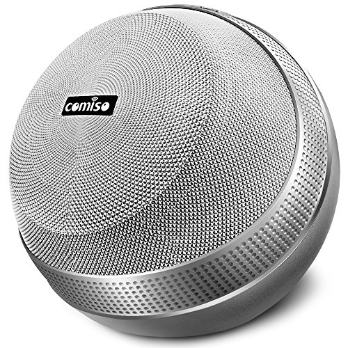 COMISO HomeAudio 40W Bluetooth Speakers, Loud Dual Driver Hi-Fi Wireless Bluetooth Speaker with HD Audio and Enhanced Bass, Wireless Stereo, Built in Mic, Aux Input, Long-Lasting Battery Life (Grey) 1