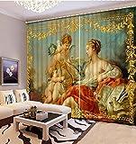 Wapel Custom 3D-Vorhängen Europäische Engel Muster 3D Luxus Vorhänge Für Wohnzimmer 3D-Bestickter Voile Gardinen 240X320CM