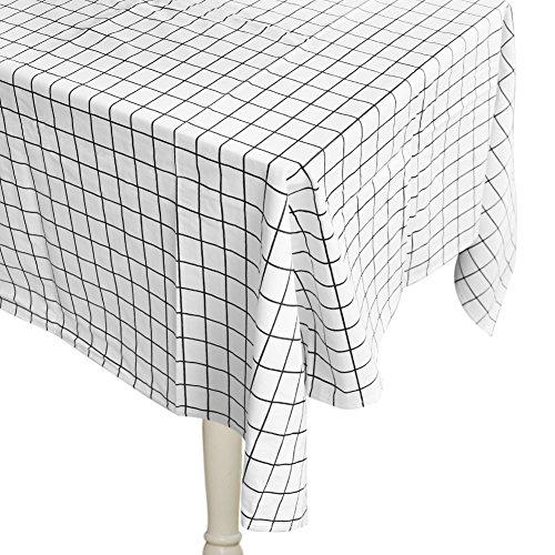MIRX Tovaglia, grande formato Tovaglie Rettangolare 70% cotone misto tessuto Griglia 30% poliestere antistatico
