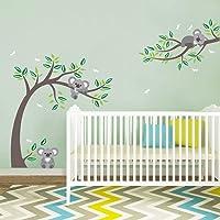decalmile Stickers Muraux Koala et Arbre Autocollant Mural Libellule Ours Koala Décoration Murale Chambre Enfant Bébé…