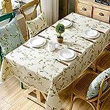Us-amerikanischer Country Gartentisch Tuch Aus Baumwolle Und Leinen Kleine Frische Blumen Kaffee Stoff Rechteckig Quadratisch-B 130x240cm(51x94inch)
