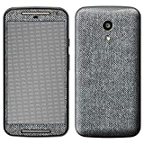 atFolix Skin kompatibel mit Motorola Moto G 2. Generation 2014, Designfolie Sticker (FX-Denim-Grey), Jeans-Stoff Optik