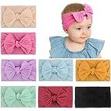 8 diademas de nailon para bebés y niñas, muy elásticas, para el pelo, accesorios para el cabello suave para niños recién naci