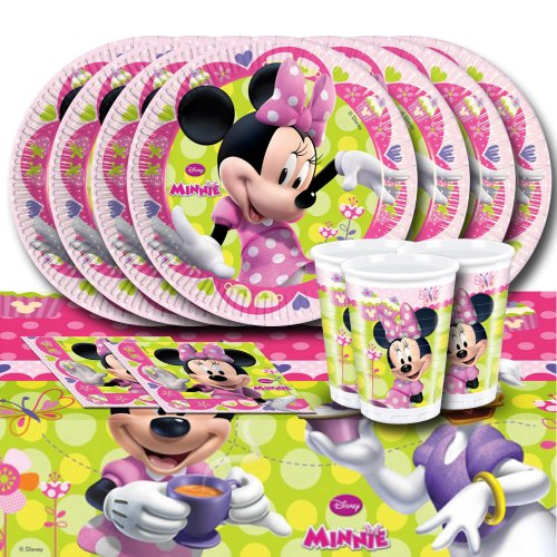 Image of Disney Minnie Mouse Bow-Tique Complete Party Kit For 16