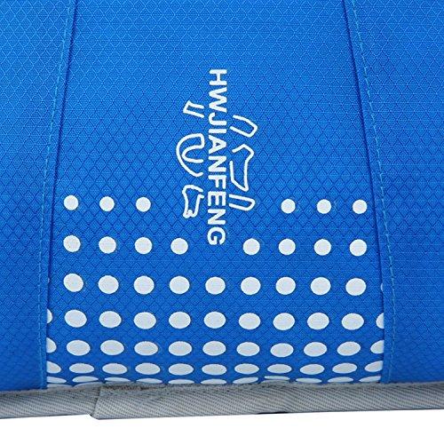 HWJF Sporttasche Reittasche atmungsaktive Rucksack Herren und Frauen Sportpaket Reise Outdoor Reitausrüstung Blue
