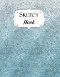 Sketch Book: Glitter   Sketchbook   Scetchpad for Drawing or Doodling   Notebook Pad for Creative Artists   #8   Blue Ombre