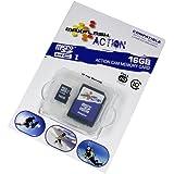 16GB Speicherkarte für Aquapix W1024-R Splash, Class 10, unterstützt Ultra HD;