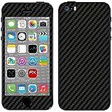 """Skin Apple iPhone 5S / SE """"FX-Carbon-Black"""" Designfolie Sticker"""