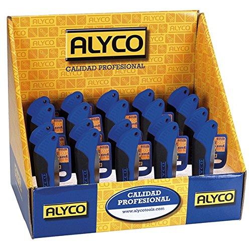 Alyco 108034 – Présentoir 24 Couteau pour électricien avec double encoche à dénuder dénder 210 – 120 mm