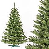 FAIRYTREES künstlicher Tannenbaum FICHTE NATUR, Baumstamm grün, Material PVC, inkl. Metallständer, 180cm