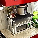 kicthnslf Küchenregal Organizer und Storage Home Schrank Organisatoren Regaleasoning Rack Mikrowelle Rack Rack Regale Küche, 6 Arten verfügbar Praktisch und praktisch,Weißer Rahmen,Schwarz