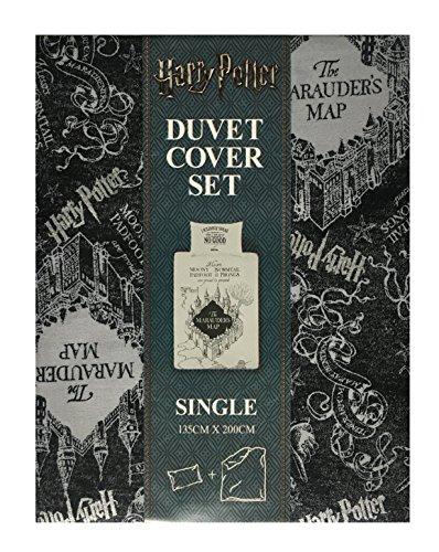 Harry Potter–Mapa del Merodeador Reversible funda de edredón y funda de almohada...