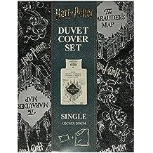 Harry Potter–Mapa del Merodeador Reversible funda de edredón y funda de almohada para cama individual o doble, suelto