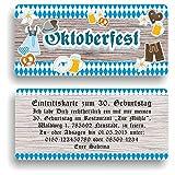 Einladungskarte Geburtstag Oktoberfest I Einladung zur Mottoparty (50 Stück)