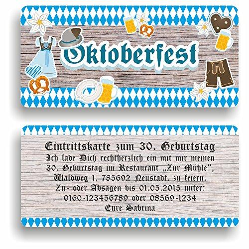 Einladungskarte Geburtstag Oktoberfest I Einladung zur Mottoparty (40 Stück)