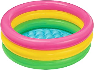 Toy Sports House Inflatable Baby Pool, Multi Color (2-Feet)