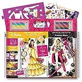 Style Me Up - Malbuch und Stickerbuch für Mädchen - Basteln Mädchen mit schablonen, Stickern und Buntstifte - Disney Prinzessin - SMU-2042