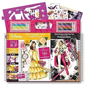 Style Me Up - Libro para Colorear y diseñar tu colección de moda con más de 200 pegatinas - Princesas vs Villanas Disney- SMU-2042
