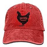 Estrange Chicken Whisperer Denim Jeanet Baseball Hat Adjustable Dad Hat