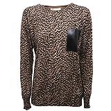 Michael Kors B7846 Maglione Cotone Donna animalier Sweater Woman [XS]