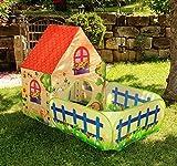 heimtexland Kinder Spielhaus Outdoor PopUp Spielzelt Bauernhof 150x90x110cm Gartenhaus Activity