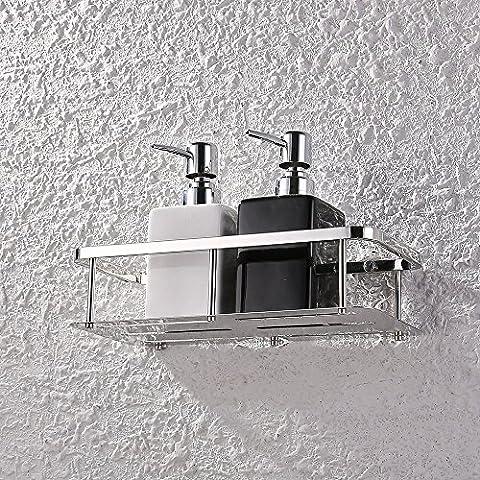 KES A2221, Rechteckig, Für Badezimmer Und Dusche, Badewanne, Edelstahl 1-Tier (Bad Scheuern)